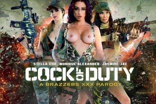 Brazzers - Cock Of Duty XXX Parody - Monique Alexander, Danny D, Jasmine Jae, Stella Cox